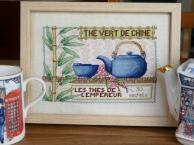 tableau thé de chine points de croix